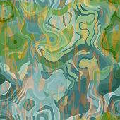 art abstract colorful chaotic waves seamless pattern in Klimt style; background in light green, yell