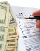W-9 Revenue Tax Form Filling By Pen