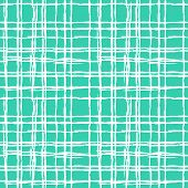 foto of cross-hatch  - Vintage striped seamless pattern with crossing brushed lines in turquoise and white colors - JPG