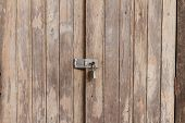 Old Wooden Doors Are Locked