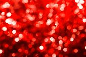 Defocused Abstract Red Christmas Background