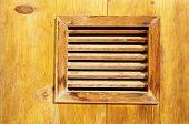 Small Window With Wooden Lattice Closeup