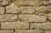 Old Mud Bricks Wall