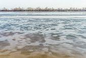 Frozen Dnieper River