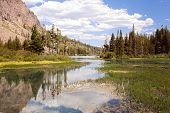 pic of mammoth  - The beautiful Twin Lakes at Mammoth California