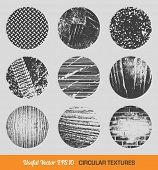 Set of vector vintage circular textures design