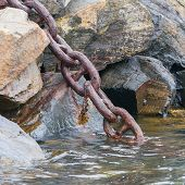 Heavy Chain Disappearing In The Dark Water