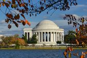 Jefferson Memorial in Autumn - Washington D.C. United States of America