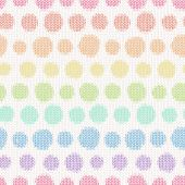 Seamless pattern with knitted polka dots. Textile texture