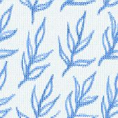 Seamless pattern with textile branches. Knitted texture
