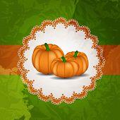 Orange Pumpkin  Background Vector Illustration