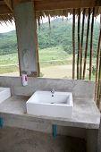 Washbasin Of Modern Form.