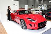 Bangkok - August 19: Jaguar F-type Coupe Car With Unidentified Model On Display At Big Motor Sale On