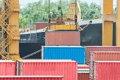 Containers In The Port For Import Export