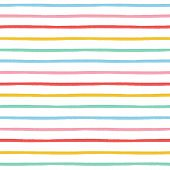 Hand painted brush strokes seamless pattern, striped background