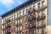 image of brownstone  - Brownstone Homes in New York USA - JPG