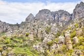 Outcrops On The Mountain Demerdzhi