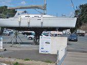 Sailboat In Maintenance Area