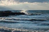 waves on Lake Iznik, Turkey