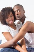 Young African American Couple in love and relaxed