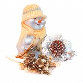 Snowman With Christmas Decoration