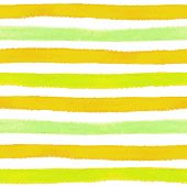 Seamless pattern with hand painted brush strokes, striped backgr