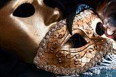 Old Gold Venetian Masks