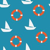 Yacht Seamless Pattern