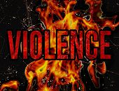Violence Typography Grunge Style Illustration Design