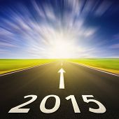 Driving On An Empty Road In Speed To 2015
