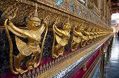 Golden Garuda At Wat Phra Kaew,temple Of The Emerald