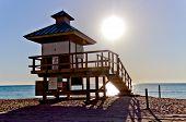 Lifeguard Hut In Sunny Isles Beach, Florida