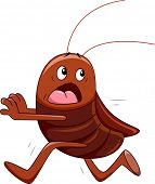 Illustration Featuring a Cockroach Running Away