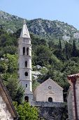 PERAST, MONTENEGRO - JUNE 08: Catholic Church of Our Lady of the Rosary, Perast, Montenegro on June
