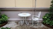 White Vintage Tea Table And Chair