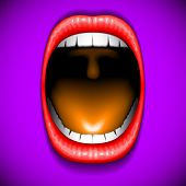picture of oral  - Mouth color open vector icon lips oral - JPG