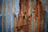 Old Texture And Rusty Zinc