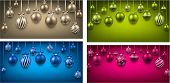 Abstract arc colorful backgrounds with christmas balls. Vector illustration.