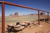 USA, Arizona, railing in Monument Valley