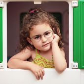 Little Girl And Glasses