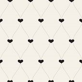 Vector seamless retro pattern.Background for Valentines Day.
