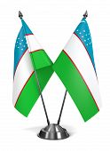 Uzbekistan - Miniature Flags.
