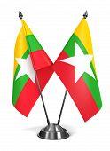Myanmar - Miniature Flags.