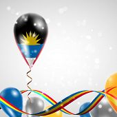 Flag of Antigua and Barbuda on balloon