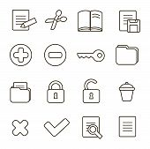 Navigation icon set.  illustration of different interface web icons