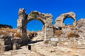 Ruins at Aspendos in Antalya, Turkey - archaeology background