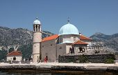 PERAST, MONTENEGRO - JUNE 08: Church of Our Lady of the Rocks, Perast, Montenegro, on June 08, 2012