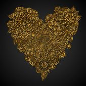 Ornate Golden Heart