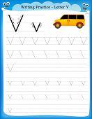 Writing Practice Letter V