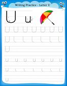 Writing Practice Letter U